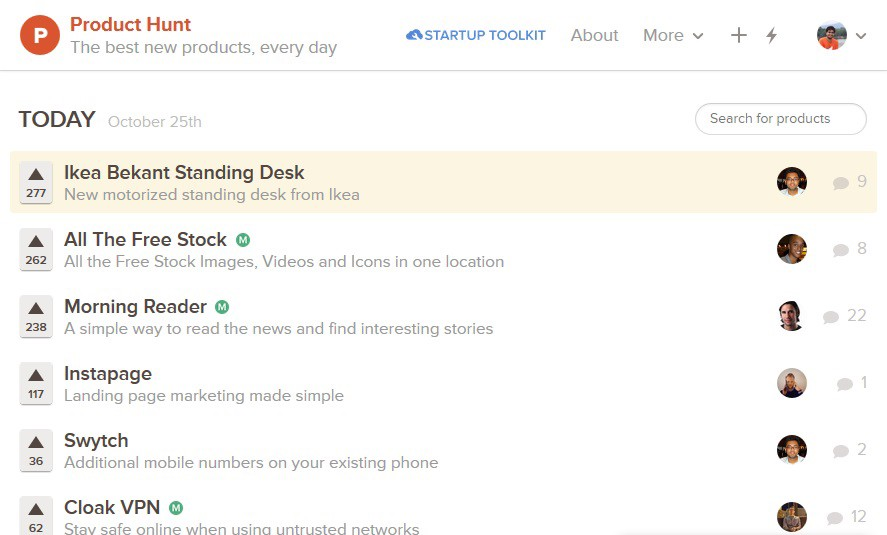 Product Hunt combines great content with great design